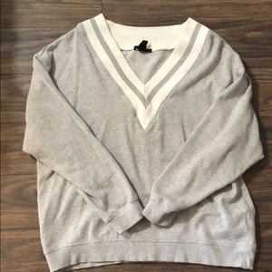 H&M oversized varsity sweatshirt